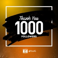 Thank you follower subscriber instagram Instagram-opslag template