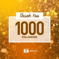 Thank you follower subscriber instagram Instagram-opslag template