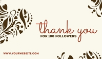 Thank You For 100k Followers Label template