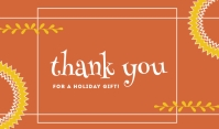 Thank You For A Holiday Gift Template Etiqueta