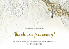 Thank you for coming online greeting card