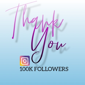 Thank You For Followers Instagram template