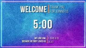 THank you for joining us countdown with bible Digitalanzeige (16:9) template