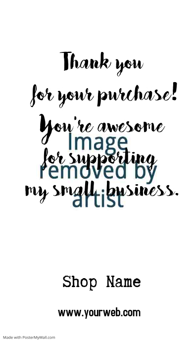 thank you for shopping card postermywall