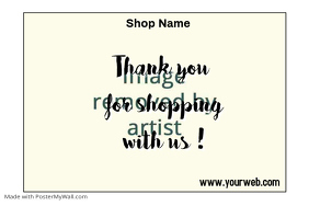 thank you for shopping label