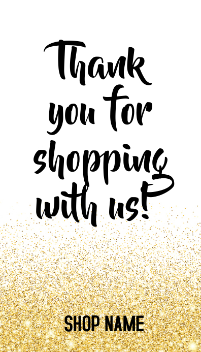 Thank You For Shopping Message Card Template Postermywall