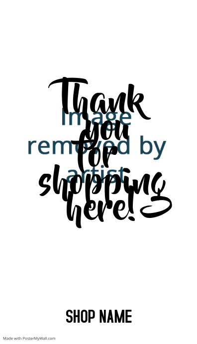 thank you for shopping message card