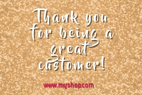thank you for shopping message label template