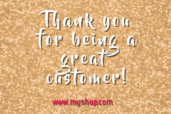 thank you for shopping message label Rótulo template