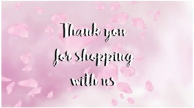 thank you for shopping message video