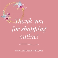 Thank you for shopping online banner insta Instagram Post template
