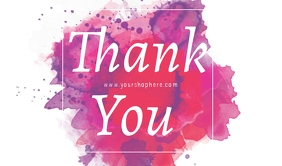 thank you for shopping tag Tanda template