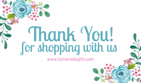 thank you for shopping tag Etiqueta template