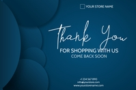 thank you for shopping with is flyer Póster template