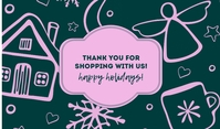 Thank You for Shopping With Us Tag template