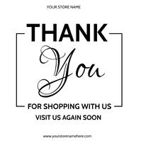 thank you for shopping with us flyer Publicación de Instagram template