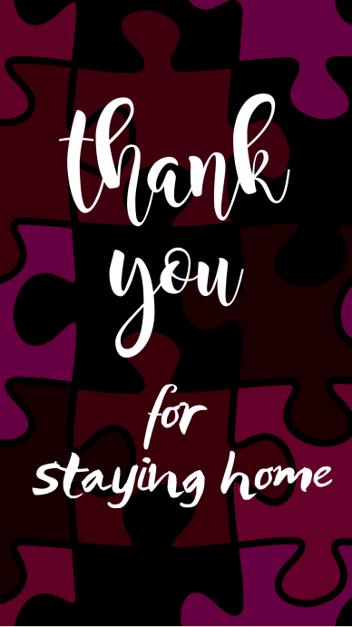 thank you for staying home post Instagram Story template