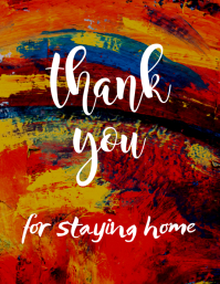 thank you for staying home post