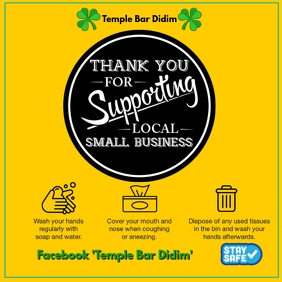 Thank You for Supporting Local Business Instagram na Post template