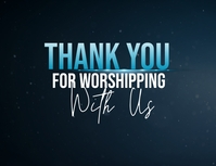 thank you for worshipping with us poster Flyer (US Letter) template