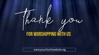thank you for worshipping with us poster Pantalla Digital (16:9) template