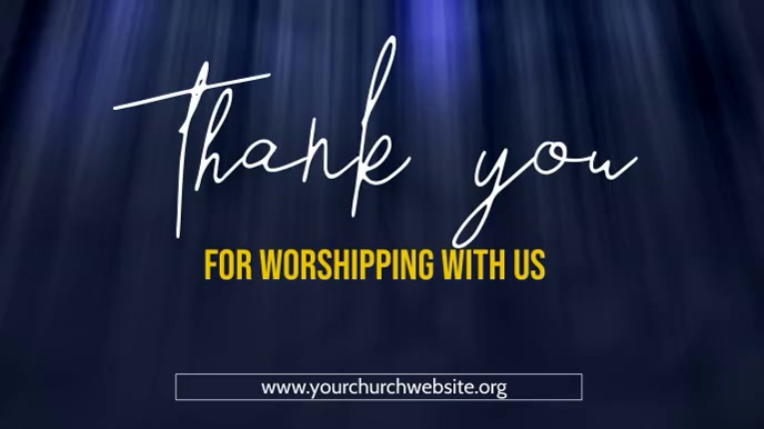thank you for worshipping with us poster Digitale Vertoning (16:9) template