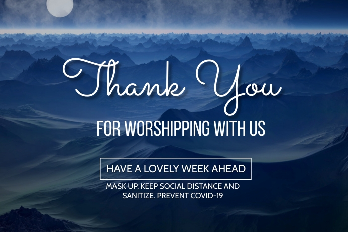 thank you for worshipping with us poster template