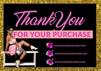 Thank you for your business card Poskaart template