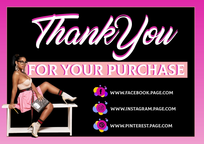 Thank you for your business card Kartu Pos template