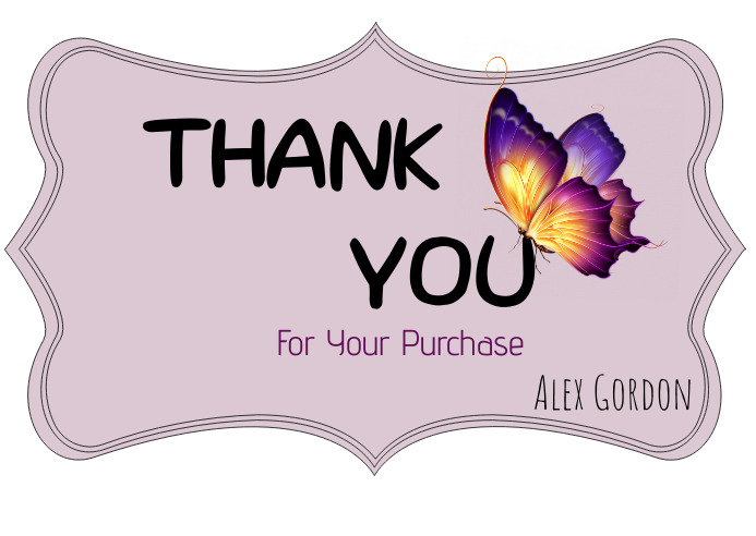 Thank you for Your Order Kartu Pos template