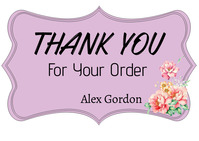 Thank you for Your Order Postcard template