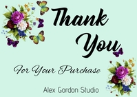 Thank you for Your Order ไปรษณียบัตร template