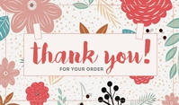 Thank You For Your Order Merker template