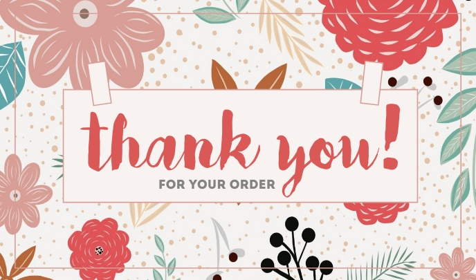 Thank You For Your Order แท็ก template