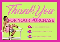 Thank you for your purchase Postal template