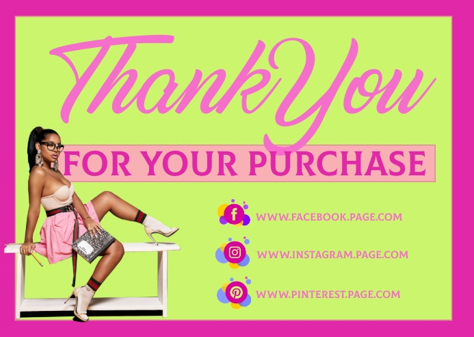 Thank you for your purchase Kartu Pos template