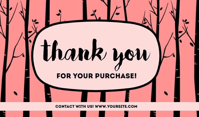 Thank You For Your Purchase Templates Ithegi