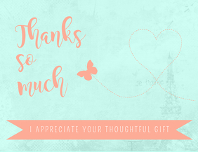 Thank You Gift Card template