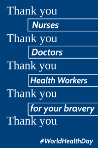 Thank You Health Care Workers Poster Template