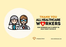 Thank You Health Workers Postcard