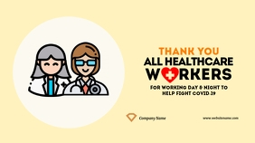 Thank You Health Workers Twitter Post template