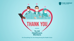 Thank You Healthcare Workers Twitter Post template