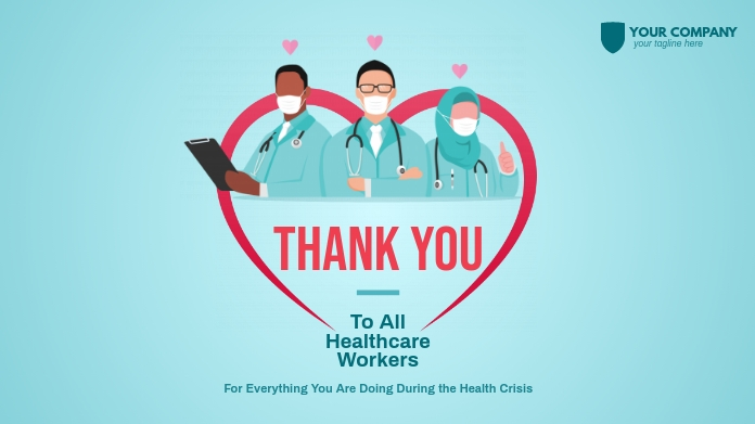 Thank You Healthcare Workers Twitter 帖子 template