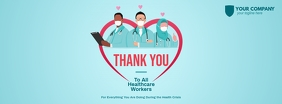 Thank You Healthcare Workers Facebook Cover template