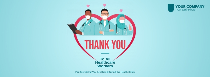Thank You Healthcare Workers Facebook Cover Facebook-coverfoto template