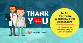 Thank You Healthcare Workers Facebook Shared template