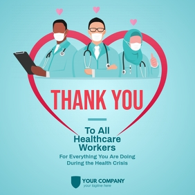 Thank You Healthcare Workers Instagram Post Instagram-bericht template