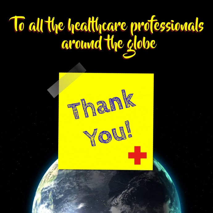 Thank you healthcare workers note video