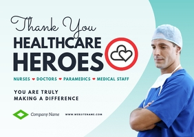 Thank You Healthcare Workers Postcard