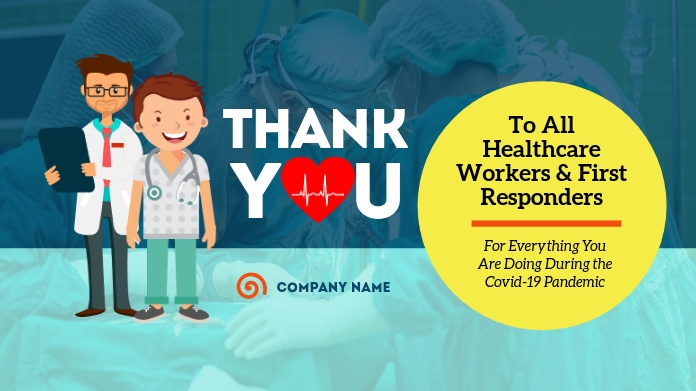 Thank You Healthcare Workers Twitter Post Twitter-opslag template